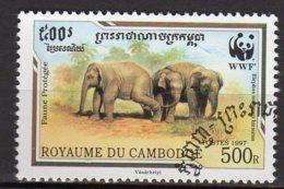 Cambodge Yvert N° 1400 Oblitéré éléphants Lot 15-173 - Cambogia