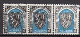 Algérie Yvert N° 268 Oblitéré 3 Timbres Lot 16-55 - Usati