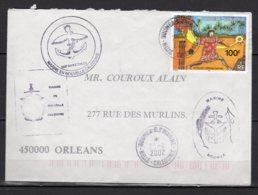 Nouvelle-Calédonie Timbre 865 Sur Lettre Oblitéré Marin En Nouvelle Calédonie 2002 Lot 17-69 - Briefe U. Dokumente