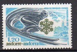 Andorre Français Yvert N° 251 Neuf Jeux Olympiques D'hiver Imsbruck 1976 Lot 18-5 - Ungebraucht