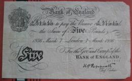 5 Pounds 1936 London - Operation Bernhard Forgerie?? (WPM 335A?) - …-1952 : Voor Elizabeth II
