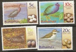 Bahamas  200 SG 1249-52  Birds With Eggs   Mounted Mint - Bahamas (1973-...)