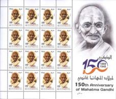 IRAQ 2019 150th Anniversary Of The Mahatma Gandhi India, MNH Full Sheet Ref739 - Irak