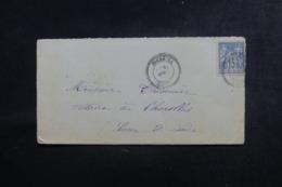 FRANCE / ALGÉRIE - Enveloppe De Bourkika Pour Charolles En 1898, Affranchissement Sage - L 44551 - Storia Postale