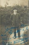 Carte Photo Du Chanteur Et Parolier Paul Senga (1881-1932) Avec Autographe De 1910 - Musique Et Musiciens