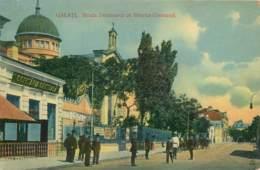 """Poste Maritime 1914 - Griffe Du Paquebot Belge """"ROI ALBERT"""" Sur Carte De GALATI Romania - Marcophilie (Lettres)"""