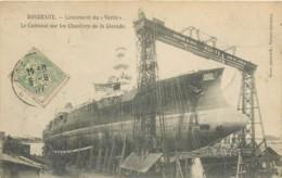 Bateau De Guerre - Lancement Du Vérité - Cuirassier Des Chantiers Girondins 1907 - Guerre