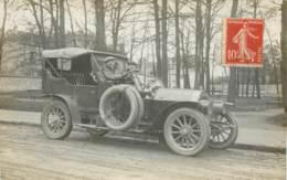 Carte Photo D'une Automobile Vers 1910 - Modèle Peugeot Type 120 Décapotable - Postée De Clamart (92) - Voitures De Tourisme
