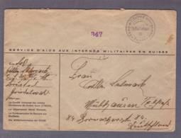 Lettre - Interné Alsacien -Camp D'Interlaken Pour Mulhouse (06.01.1941) - Zensur/Censored/Censure Militaire Suisse + E - Marcophilie (Lettres)