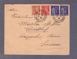 Lettre Aff. Mercure/Paix - Obl. Camp De Gurs 21.08.1939 -> Berne - Sans Censure - Marcofilie (Brieven)