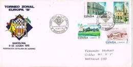 34291. Carta BARCELONA 1975. Torneo Europa B. AJEDREZ, Chess - 1931-Hoy: 2ª República - ... Juan Carlos I
