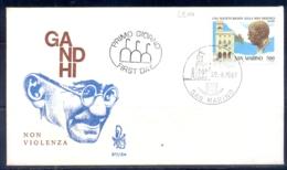 MAHATMA GANDHI-NON VIOLENCE-FDC-SAN MARINO-1987-G-464 - Mahatma Gandhi