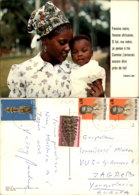 FEMME AFRICAINE,ZAIRE POSTCARD - Congo - Kinshasa (ex-Zaïre)