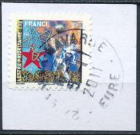 France - Meilleurs Voeux 2010 YT A493 Obl. Cachet Rond Manuel Sur Fragment - Francia
