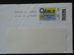 Ambulance Taxi Timbre En Ligne Montimbrenligne Sur Lettre (e-stamp On Cover) TPP 4673 - Easter