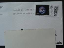 Terre Vue De L'espace National Geographic Timbre En Ligne Montimbrenligne Sur Lettre (e-stamp On Cover) TPP 4795 - Astronomy