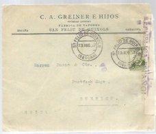 CARTA 1937  SAN FELIU DE GUIXOLS  CENSURA - Marques De Censures Républicaines