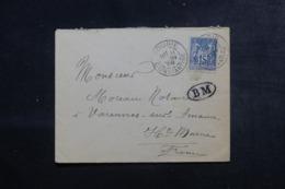 FRANCE / ALGÉRIE - Enveloppe De Bougie Pour La France En 1899, Cachet Ovale BM, Affranchissement Sage - L 44553 - Storia Postale