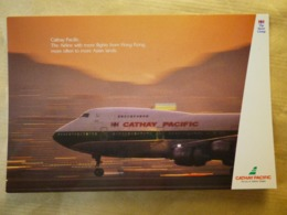 AIRLINE ISSUE / CARTE COMPAGNIE   CATHAY PACIFIC   B 747 - 1946-....: Modern Era