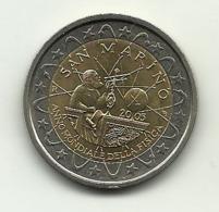 2005 - San Marino 2 Euro Galileo - Senza Confezione - San Marino