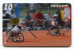 Telecarte °_ Suisse-108-Tennis Double- R/V 7762 - Zwitserland