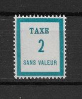 Fictif Taxe N° 2 De 1949 ** TTBE - Cote Y&T 2019 De 1 € - Phantomausgaben