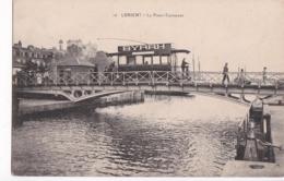 Bv - Cpa LORIENT - Le Pont Tournant (avec Un Tramway, Pub BYRRH) - Lorient