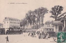 Bv - Rare Cpa LORIENT - La Place Du Morbihan (avec Un Tramway, Pub AMER PICON) - Lorient