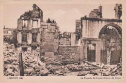 Bv - Cpa LORIENT 1943 - La Façade Du Lycée Dupuy De Lôme (Coll. Pin N° 12) - Lorient