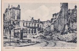 Bv - Cpa LORIENT 1943 - La Place Alsace Lorraine Vers La Rue Victor Massé (Coll. Pin N° 24) - Lorient