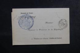 FRANCE / ALGÉRIE - Lettre En Franchise Du Conseil De Guerre De Constantine Pour Chalon / Marne En 1884 - L 44554 - Marcophilie (Lettres)
