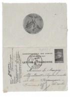 Lettre De Franchise JOFFRE  écrite à Saint Amarin, Postée à MOOSCH  1915 - Poststempel (Briefe)