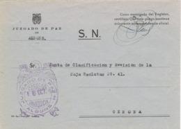 34293. Carta S.N. Franquicia Juzgado De Paz ALBONS (Gerona) 1959. - 1931-Hoy: 2ª República - ... Juan Carlos I