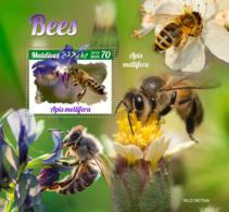 Z08 MLD190704b MALDIVES 2019 Bees MNH ** Postfrisch - Maldiven (1965-...)