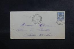"""FRANCE / ALGÉRIE - Oblitération Ambulant """" Marengo à El Affroun """" Sur Enveloppe Pour Charolles En 1898 - L 44555 - Storia Postale"""