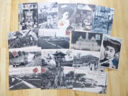 TONKIN - HANOI - LOT DE 34 CARTES POSTALES DE 2 FAMILLES - ASIE VIET-NAM - Vietnam