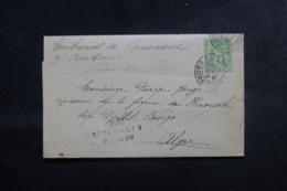 FRANCE / ALGÉRIE - Lettre Du Tribunal De Commerce De Autun Pour Alger En 1899, Affranchissement Sage - L 44556 - Storia Postale