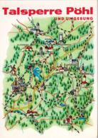 1 Map Of Germany * 1 Ansichtskarte Mit Der Landkarte - Talsperre Pöhl Und Umgebung * - Landkaarten