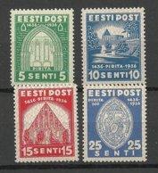 Estonia Estland 1936 Kloster Pirita Nonnery Michel 120 - 123 * - Estonie