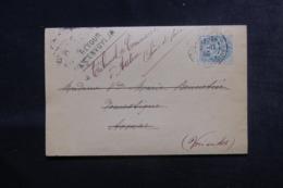 FRANCE / ALGÉRIE - Lettre Du Tribunal De Commerce De Autun Pour Aomar En 1906 Et Retour,affranchissement Blanc - L 44558 - Storia Postale
