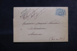 FRANCE / ALGÉRIE - Lettre Du Tribunal De Commerce De Autun Pour Aomar En 1906 Et Retour,affranchissement Blanc - L 44559 - Storia Postale