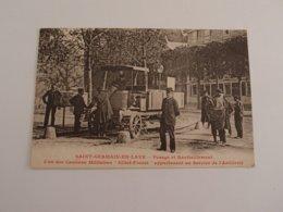 CPA Saint Germain En Laye Pesage Et Ravitaillement Camion Militaire Gillet-Forest Artillerie - Camions & Poids Lourds