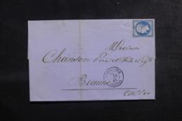 FRANCE / ALGÉRIE - Lettre De Nostaganem Pour Beaune En 1861 ,affranchissement Napoléon - L 44560 - Storia Postale