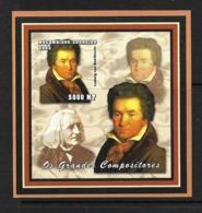 MOZAMBIQUE 2002 BEETHOVEN YVERT N° NON DENTELE - Music