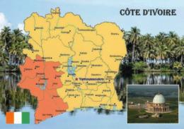 1 Map Of Côte D'Ivoire * 1 Ansichtskarte Mit Der Landkarte Der Elfenbeinküste * - Landkaarten