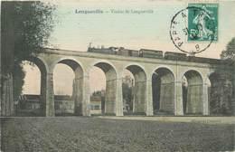 "CPA FRANCE 77 ""Longueville, Le Viaduc"" / TRAIN - France"