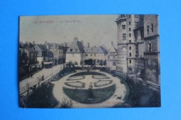 CPA Carte Postale Ancienne BOURGES Place Du Berry Colorisée - Landkaarten