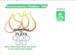 34295. Entero Postal MADRID 1995. Olimpicos De PLATA. Feria Sellos - Enteros Postales