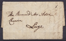 """L. Datée 18 Octobre 1783 De DEMERARA (Guyane Britannique) Pour LIEGE Par L'intermédiaire """" Amsterdam 16 Mars 1784 Pr Adr - 1714-1794 (Austrian Netherlands)"""