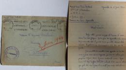 Correspondance Soldat Pierre Bailleul Cours Pratique De Tir De L'Infanterie Et Des Chars Granville 1940 Guerre Putanges - Guerra 1939-45